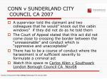 conn v sunderland city council ca 2007