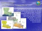 methodology socio economic considerations
