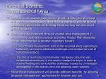 potential benefits coastal zone cup area