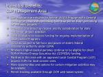 potential benefits cup management area