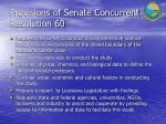 provisions of senate concurrent resolution 60