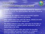 summary implementation mechanisms