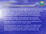 summary implementation mechanisms46