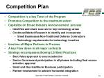 competition plan