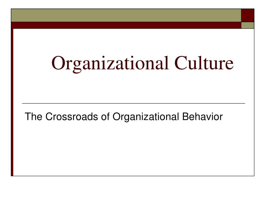 organizational culture l.