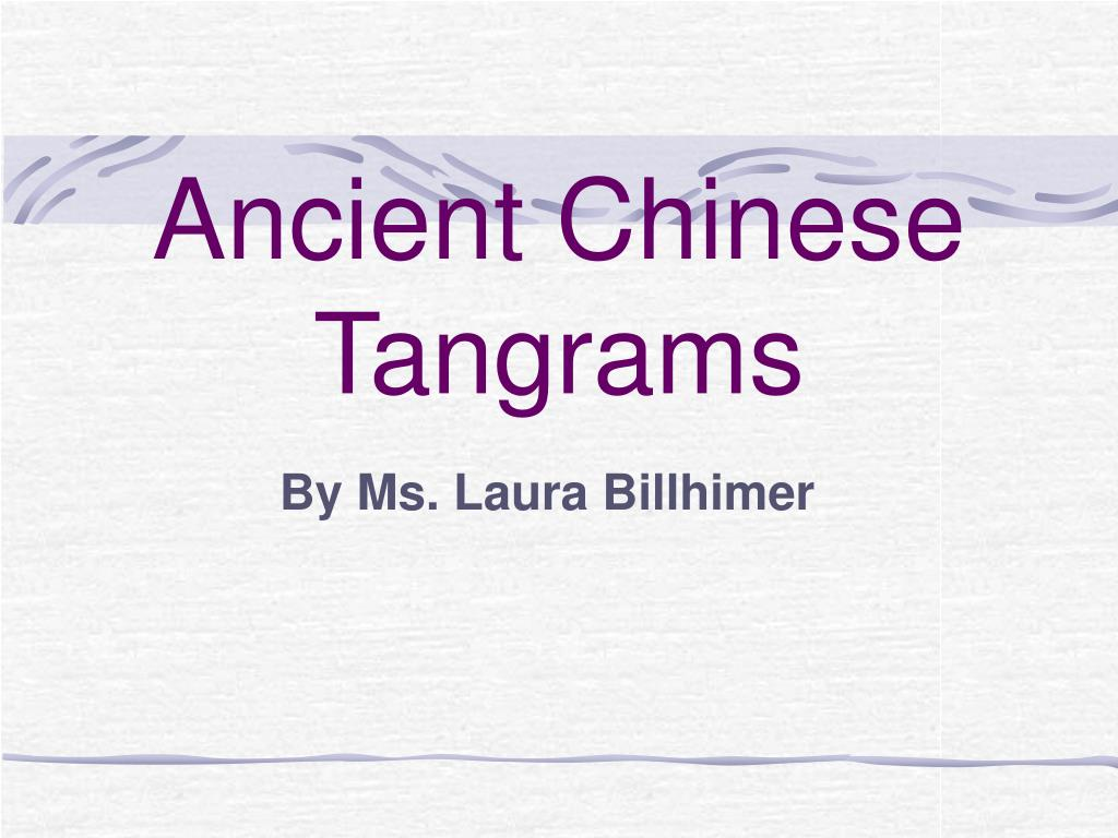 ancient chinese tangrams l.
