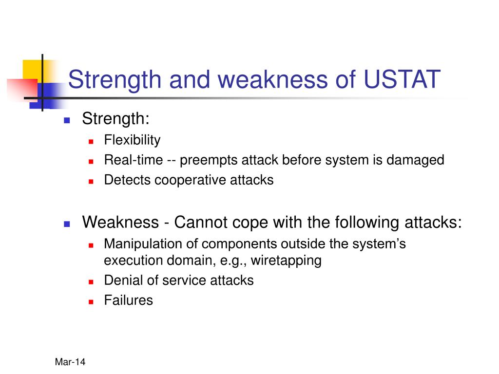 Strength and weakness of USTAT