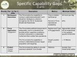 specific capability gaps 1 of 3