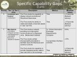 specific capability gaps 2 of 3