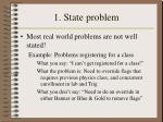 1 state problem