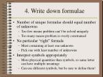 4 write down formulae