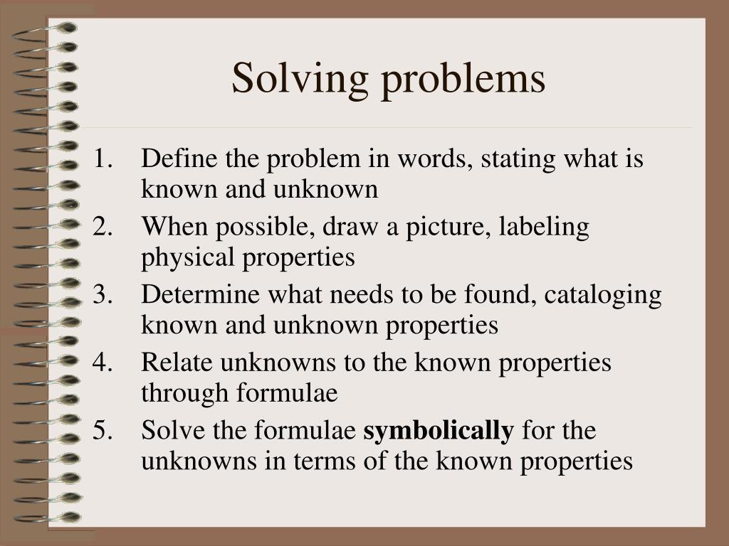 solving problems l.