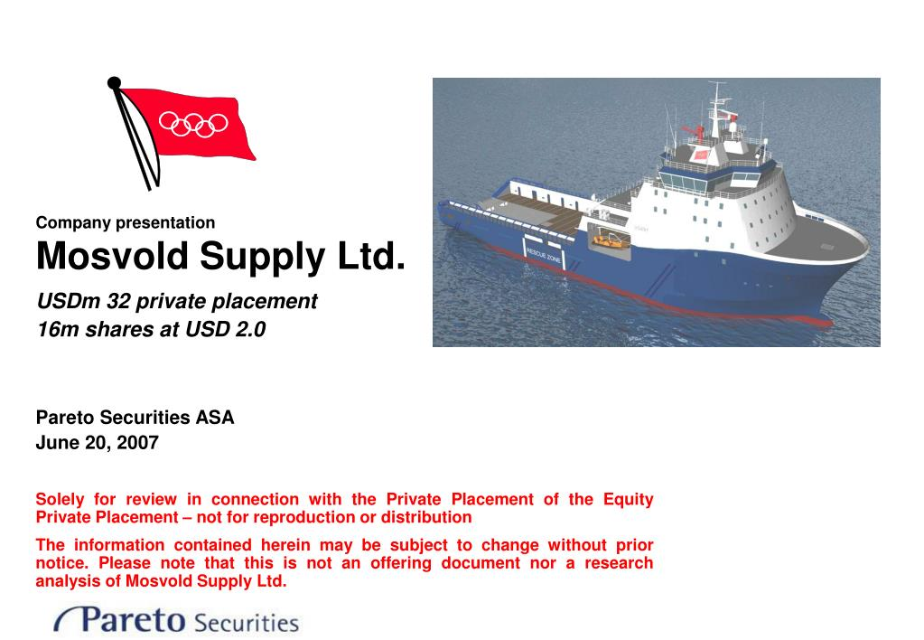 company presentation mosvold supply ltd l.