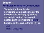 section 1 formulas of binary compounds