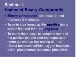 section 1 names of binary compounds