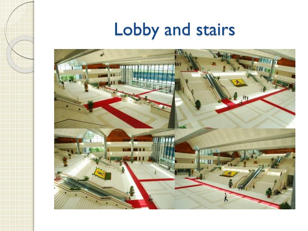 Lobby and stairs