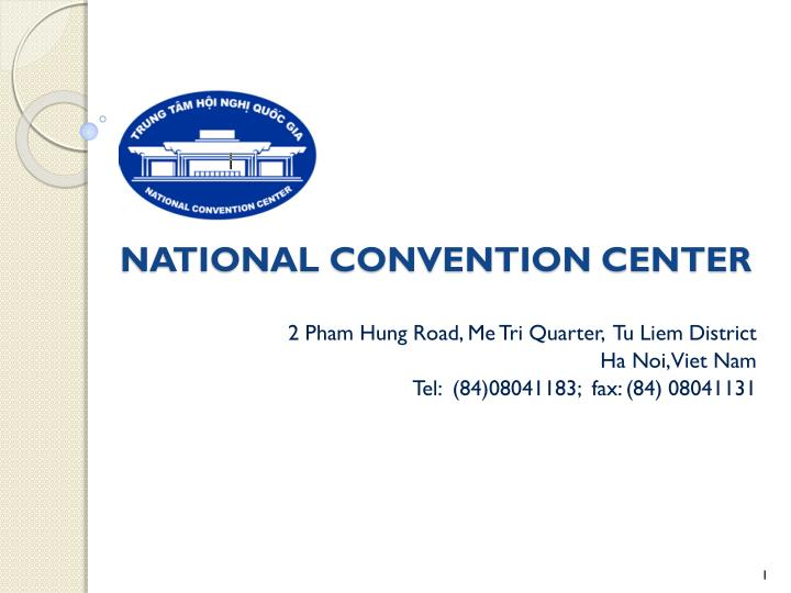 National convention center
