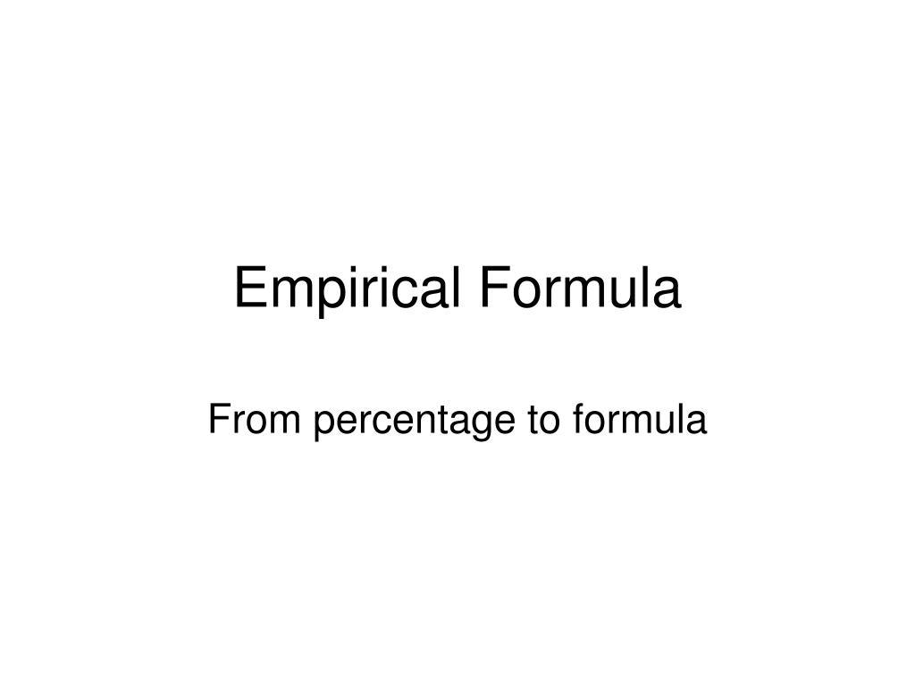 empirical formula l.