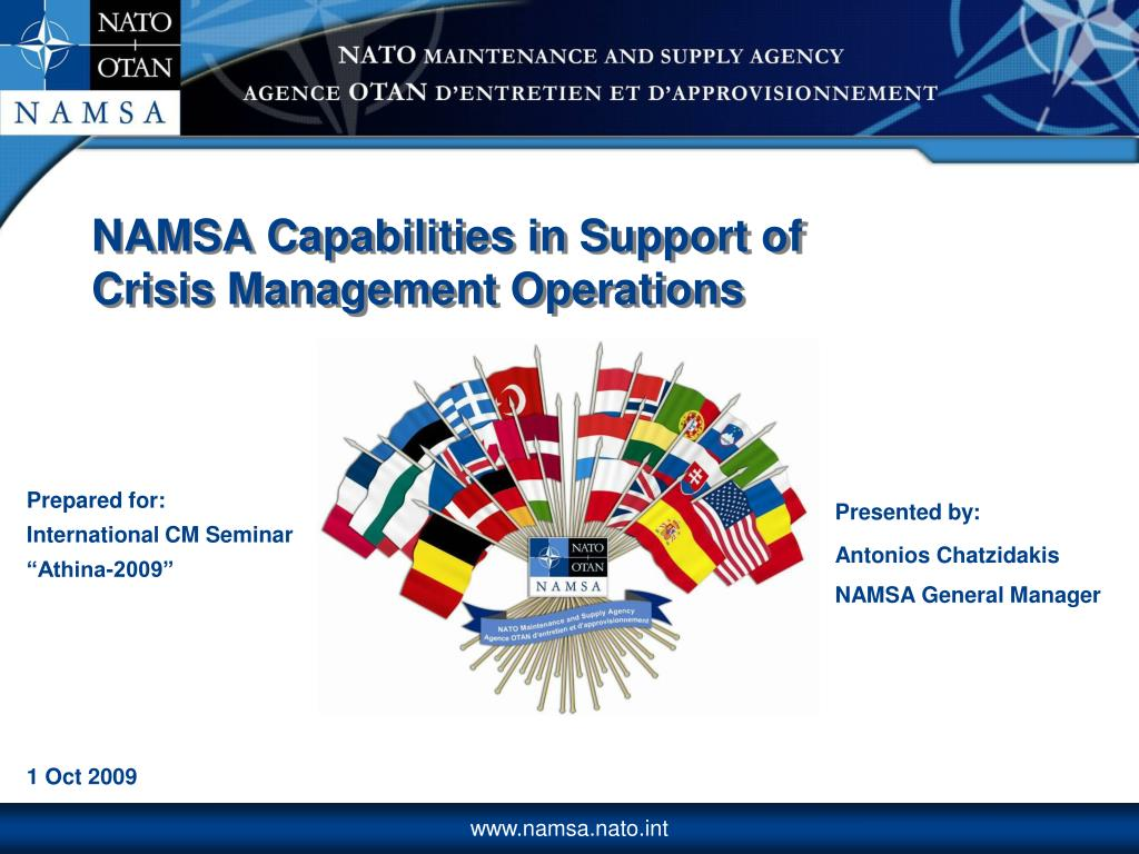 namsa capabilities in s upport of crisis management operations l.