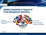 namsa capabilities in s upport of crisis management operations