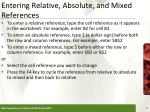 entering relative absolute and mixed references