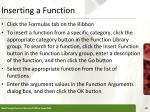 inserting a function