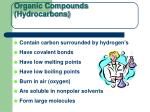 organic compounds hydrocarbons