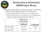 effective efficient ab589 grant money