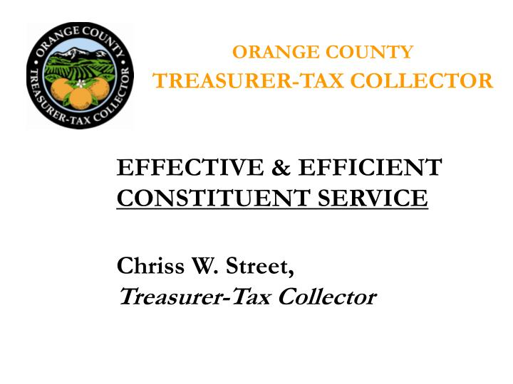 Orange county treasurer tax collector