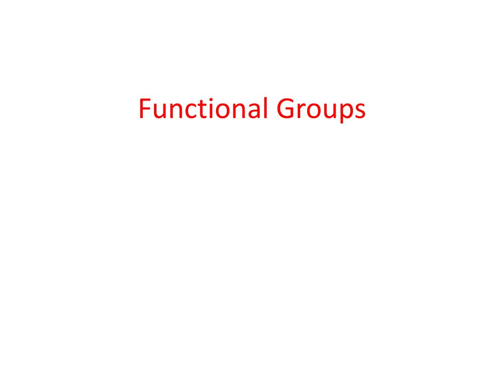 functional groups l.