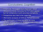 conclusions cognition