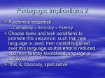 pedagogic implications 2