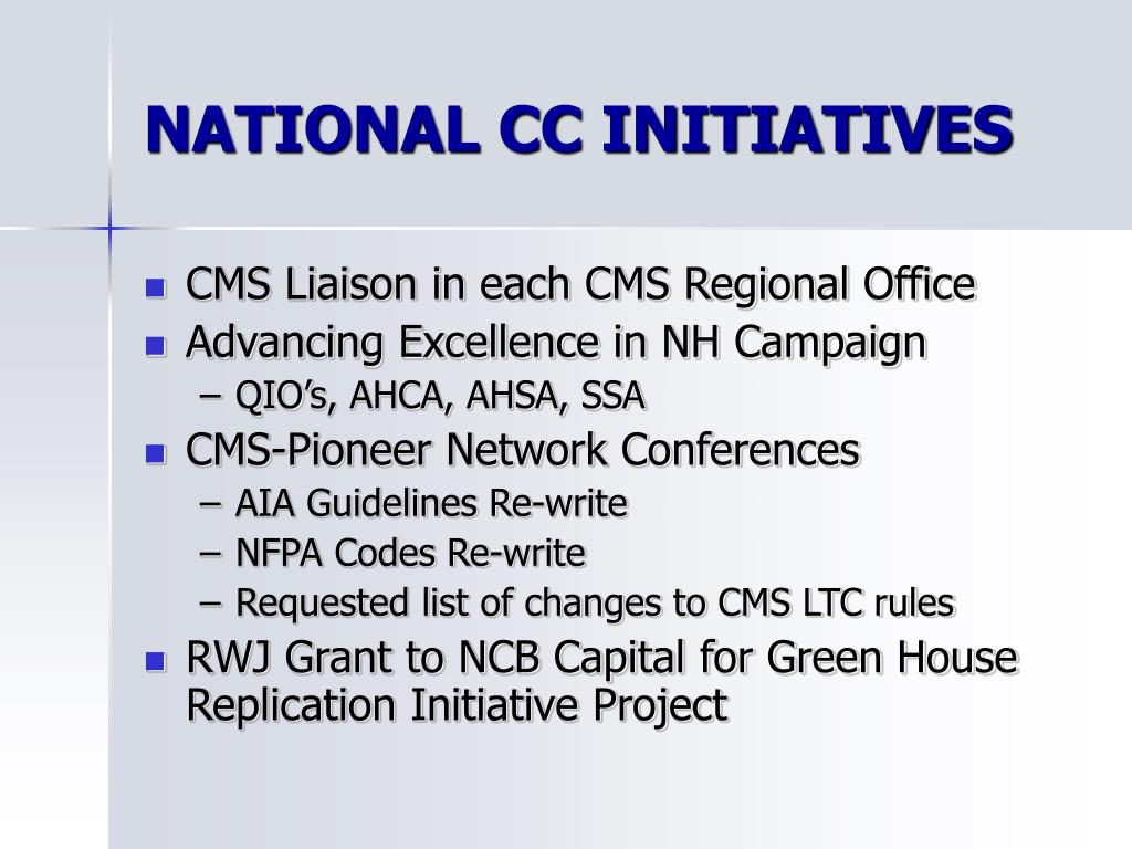 NATIONAL CC INITIATIVES