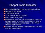 bhopal india disaster