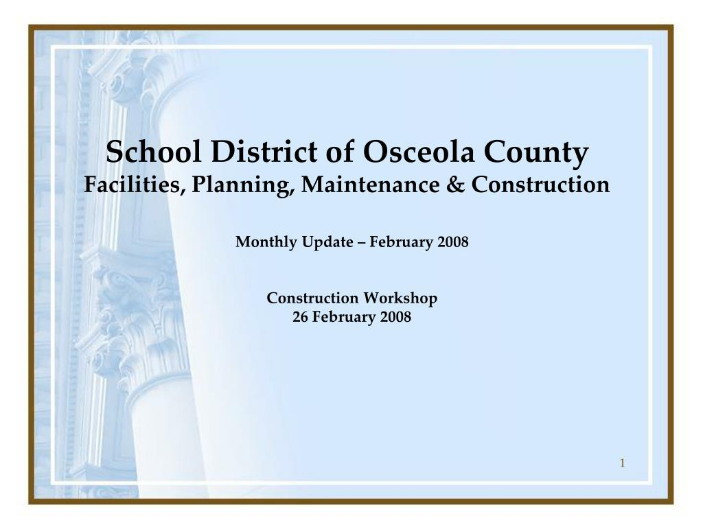 school district of osceola county facilities planning maintenance construction l.