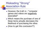 misleading strong association rule20