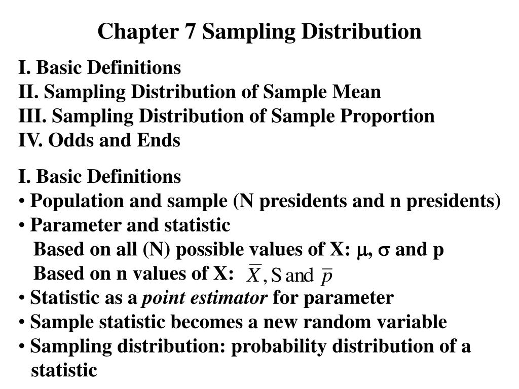 chapter 7 sampling distribution l.