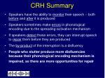 crh summary