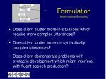 formulation grammatical encoding