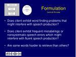 formulation lexical access