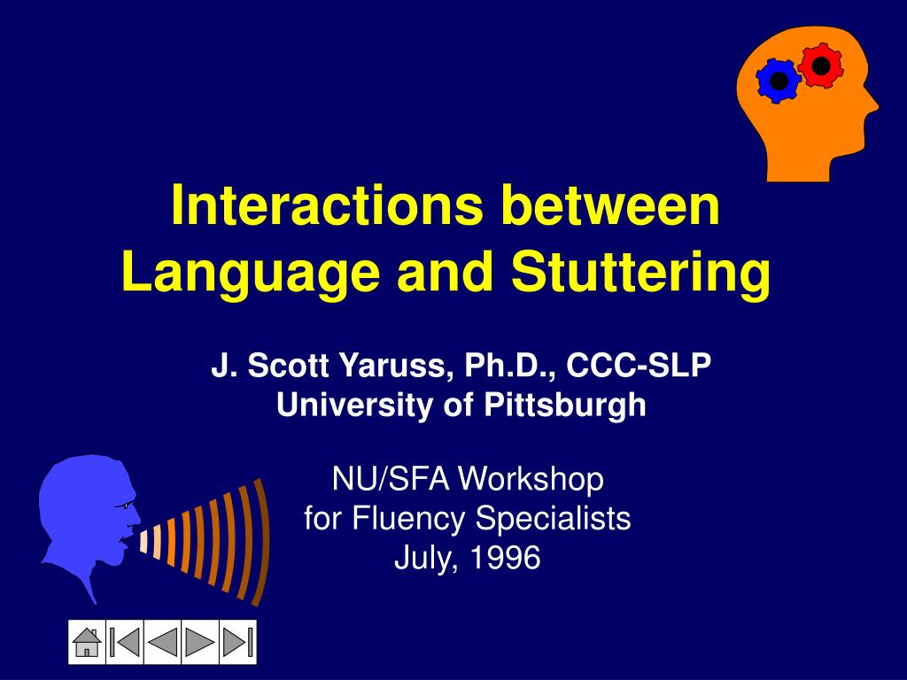 interactions between language and stuttering l.