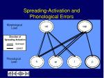 spreading activation and phonological errors