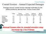 coastal erosion annual expected damages
