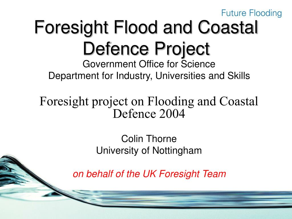 foresight flood and coastal defence project l.