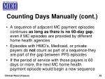 counting days manually cont