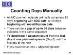 counting days manually