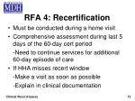 rfa 4 recertification