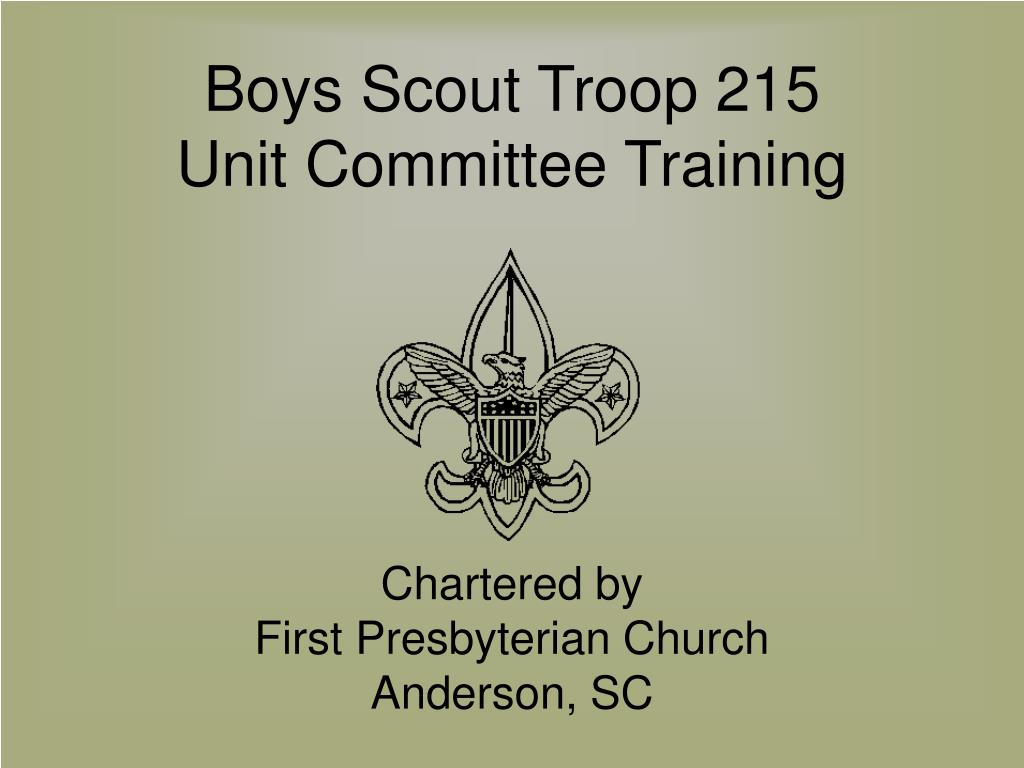 boys scout troop 215 unit committee training l.