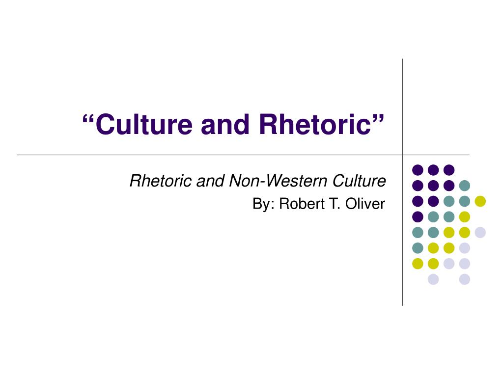 culture and rhetoric l.