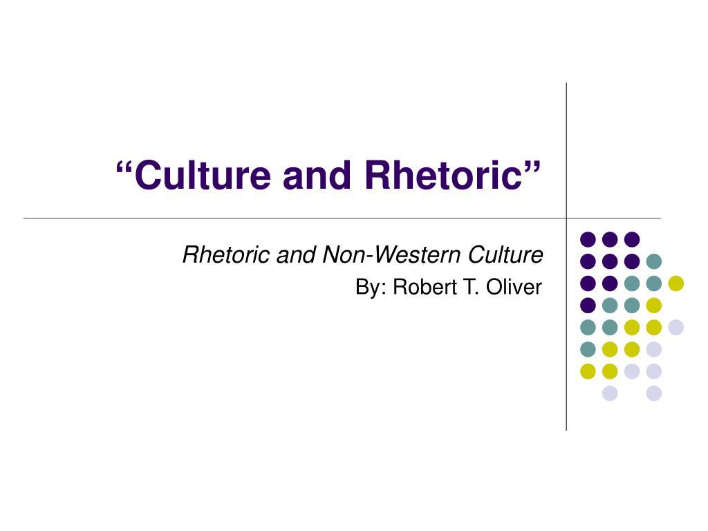 culture and rhetoric l.